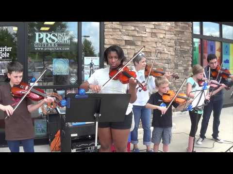 Quarter Note Open Mic 053114   Violin Ensemble