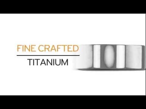 8 MM Polished Flat Top Men's Titanium Ring Wedding Band - SuperJeweler.com