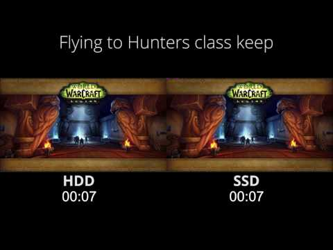 World of Warcraft Legion SSD vs HDD loading speed comparsion