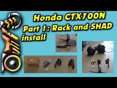 PT 1 Overview Inner Support Kit, Backrest and Rack and SHAD SH36 on a Honda CTX700N
