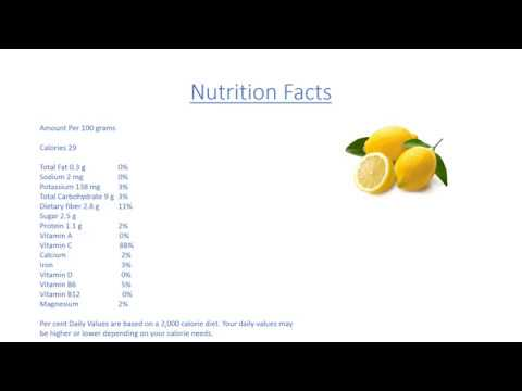 Lemon Benefits, Lemon Nutrition Facts, Lemon Health Benefits