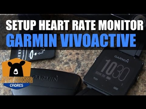 Garmin Vivoactive How to Setup Heart Rate Monitor