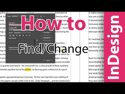 InDesign training: Highlighting words with Find/Change