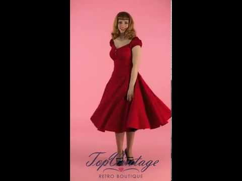 TopVintage - 50s Dolores Doll swing dress red