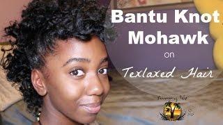 Bantu Knot Mohawk How To Natural Hair Tutorial