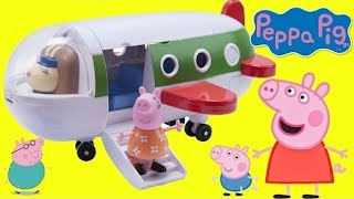 Nick Jr. PEPPA PIG's Holiday Plane Playset Travel Toy Hunting, Surprises Mickey Minnie Mouse, / TUYC