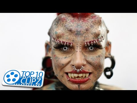 Top 10 Most Insane Body Modifications TOP 10 CLIPZ