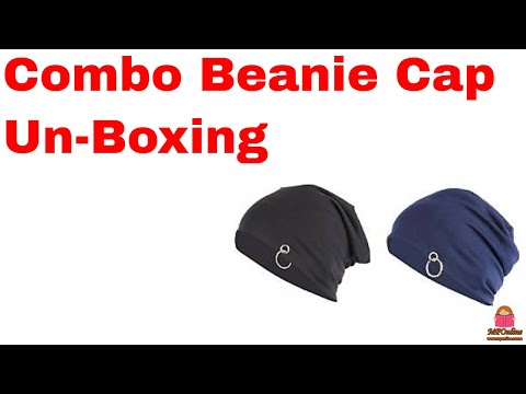 Unboxing pack of two beanie from Paytm Mall