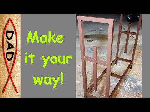 Custom Firewood storage rack - DIY for back porch or by the fire.