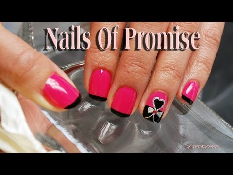 Easy Nail Art Tutorial. Hearts Desire. Nails Of Promise