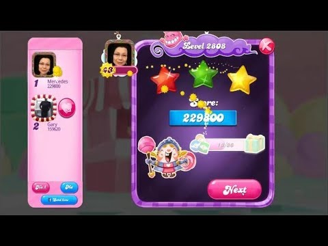 Candy Crush Saga 2808   |   Hard Level   |   3-Star ⭐⭐⭐