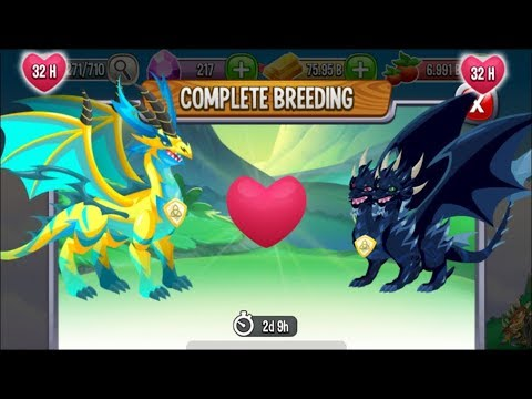 Pure Electric Dragon vs Pure Dark Dragon | Dragon City [RARE Breeding Dragon]