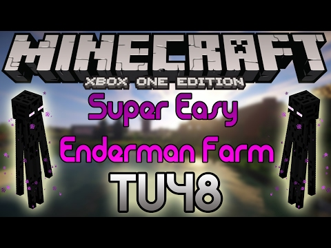Minecraft Xbox One and PS4 : Super Easy Enderman Farm!!! *Very Little Resources*
