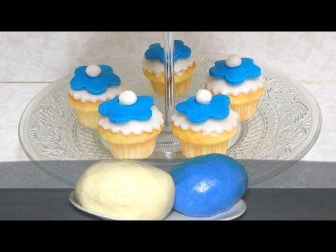 Homemade Fondant for CupCakes and small cakes - Vegan vegetarian better tasting fondant