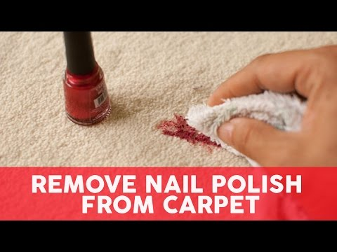 Remove Nail Polish from Carpet - 3 Easy Steps
