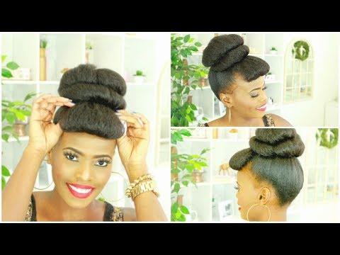 How To Hair Bun Tutorial With Faux Bang | Beginner Friendly