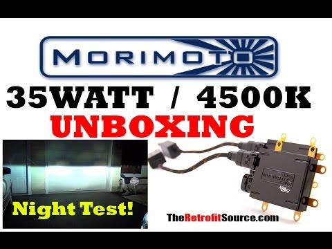 MORIMOTO HID 35w 4500k UNBOXING & Night Test