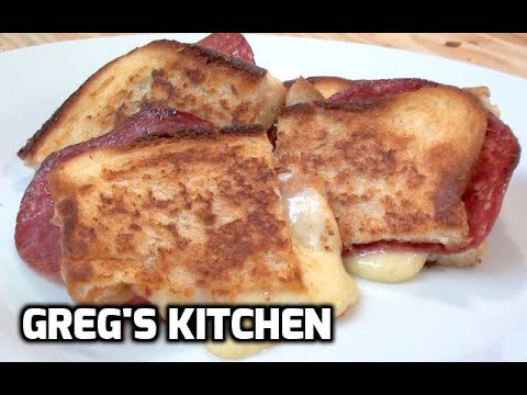 CRISPY SALAMI AND CHEESE TOASTED SANDWICH  - Greg's Kitchen