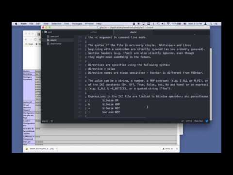 Installing MAMP on Macintosh for PHP/MySql