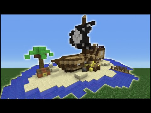 Minecraft Tutorial: How To Make A Shipwreck House