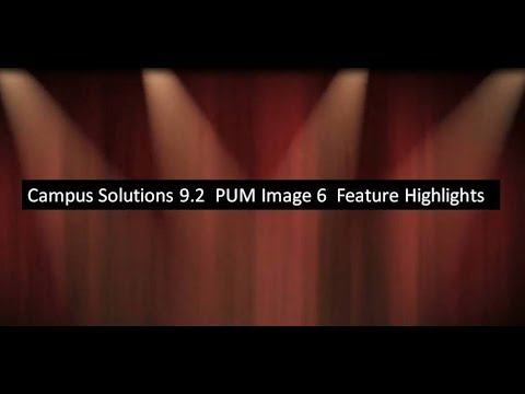 Campus Solutions 9.2 PUM Image 6 Feature Highlights