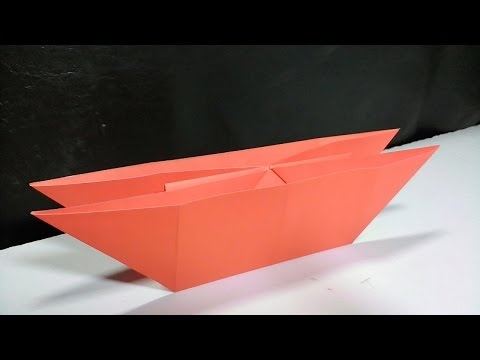 How to make a double paper boat