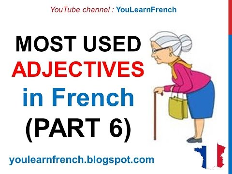 French Lesson 246 - 100 Most common ADJECTIVES in French PART 6 Must know Most used expressions