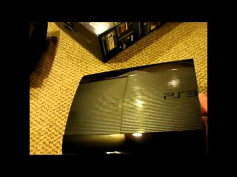 New ps3 super slim unboxing and comparison