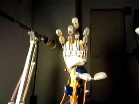 DIY Arduino Animatronic Robot Hand : Haptic Glove Control