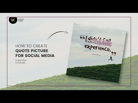 How to create quotes picture for social media post in less than 5 minutes