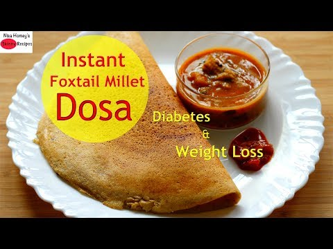 Easy Instant Foxtail Millet Dosa For Diabetes - Thina Dosa - Healthy Dinner Recipes For Weight Loss