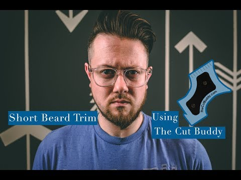 Trimming & Maintaining A Patchy Beard l Using the Cut Buddy To Trim My Beard
