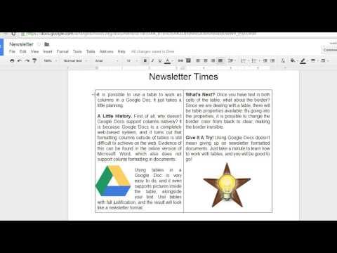 Google Docs - Newsletter