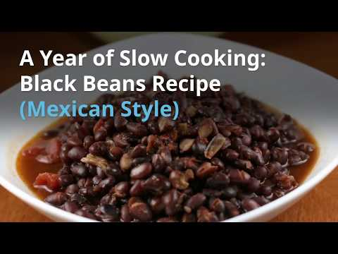 Slow Cooker Black Beans (Mexican Style)