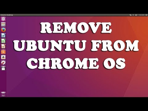 How to remove crouton ubuntu from chrome os on chromebook