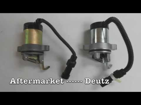 Deutz Electronic Shutoff Solenoid Identification and Installation