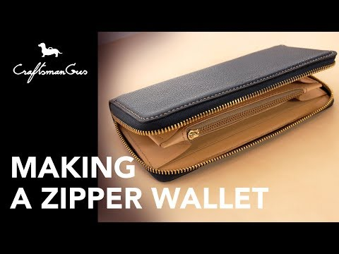 Making Leather Wallet : Long Zipper Wallet #LeatherAddict EP30