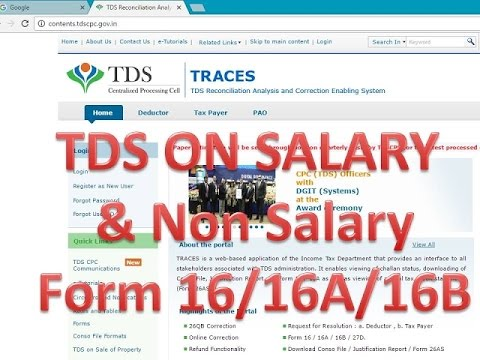 TDS On Salary Calculation 2018