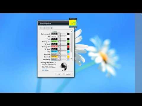 Awesome Binary Uptime 1.1 Windows 7 Gadget
