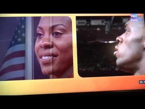 Usain Bolt - United States of America Hym (Epic moment) Olympics