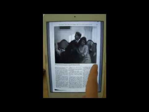 Google Books PDF Test: Retina iPad Mini American Magazine Open