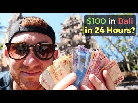 How Much Fun Can You Have in BALI with $100 in 24 Hours?