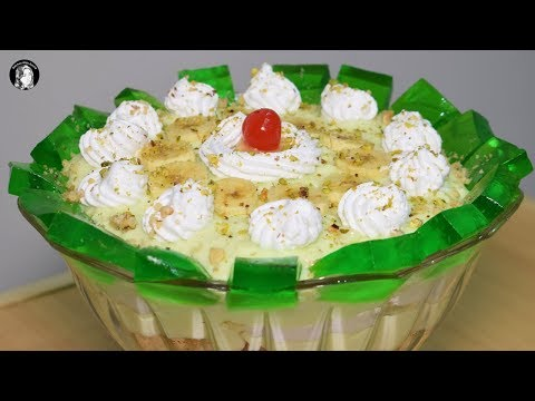 Delicious Banana Custard Trifle Recipe - Sweet Dessert Recipe - Kitchen With Amna