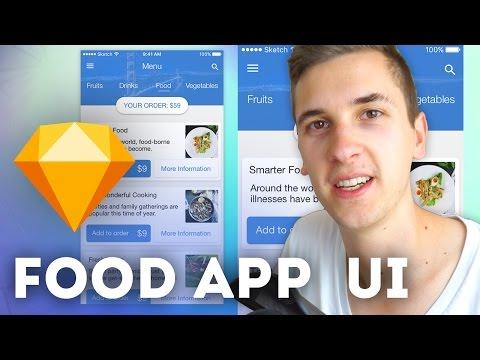 Food App UI • Sketchapp Tutorial / Sketch 4 Tutorial
