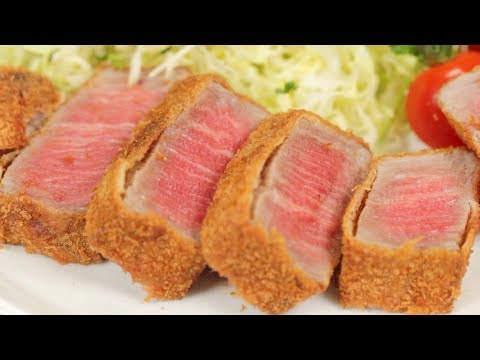 Gyukatsu (Deep-Fried Wagyu Beef Cutlets) Recipe with 2 Types of Dipping Sauce | Cooking with Dog