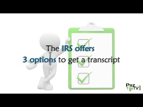 Get Your Tax Transcripts