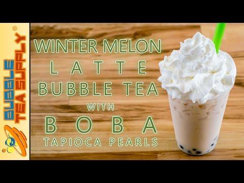 How to Make Wintermelon Latte Bubble Tea with Boba Tapioca Pearls