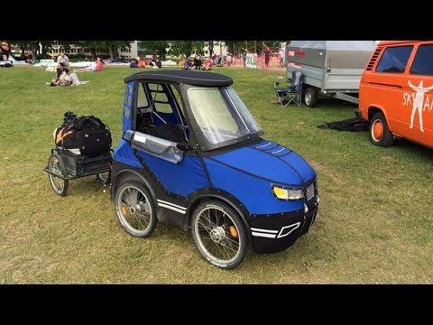 PodRide the enclosed pedal car by Mikael Kjellman
