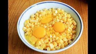 玉米加上3個雞蛋這樣做,學會懶人早餐,不加一滴水,天天吃不膩【夏媽廚房】