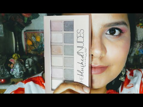 Maybelline blushed nudes palette review and swatches || all about skin and makeup
